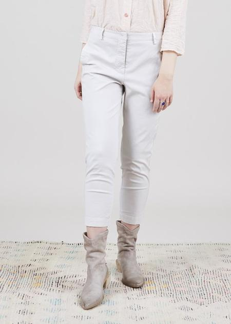 Aequamente Cropped Slim Pant - Shell Beige