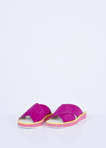 Flamingos Mama Slide Sandal - Viola Suede