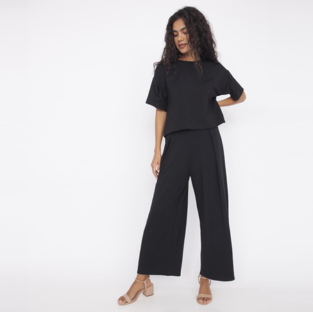 Corinne Jojo Pleat Pant - Black