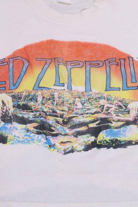 UNISEX MadeWorn Led Zeppelin Holy Crop - Off White