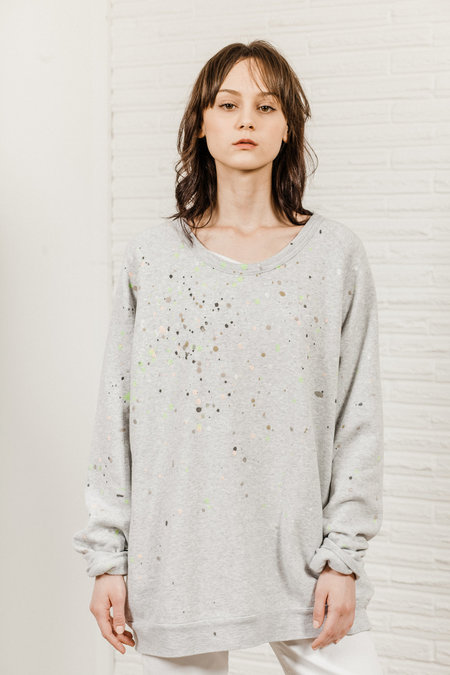Kate Towers dottie sweatshirt - Heather Grey