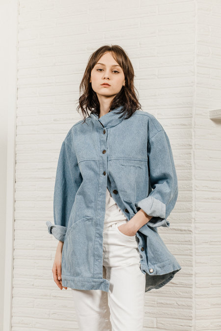 Kate Towers Oversized Denim Jacket - Summer Blue