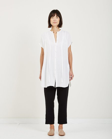 Raquel Allegra GAUZE RIBBON TUNIC - WHITE