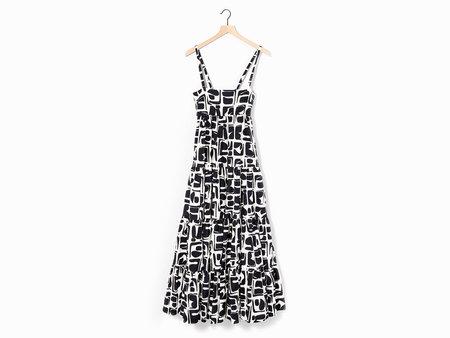La Double J Bouncy Dress - Black/White