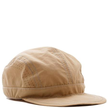 and wander Laser Hole Nylon Taffeta Cap - Beige