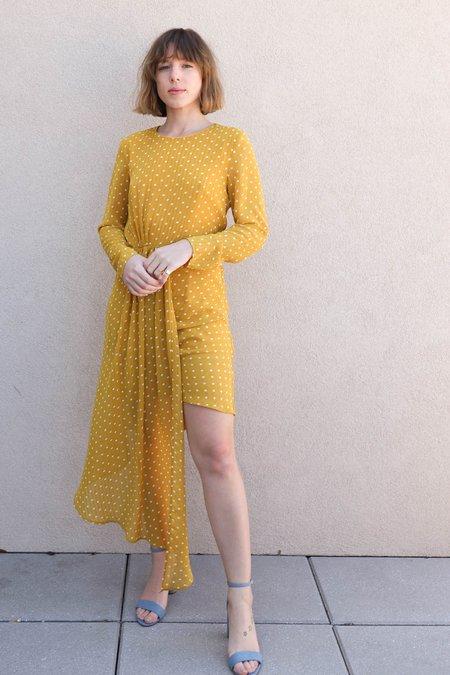 Jovonna Jordan Polka Dot Dress - Yellow