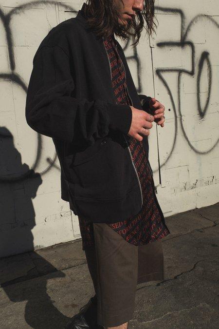 Yang Li Wander Tee Patch Jersey Bomber jacket - black