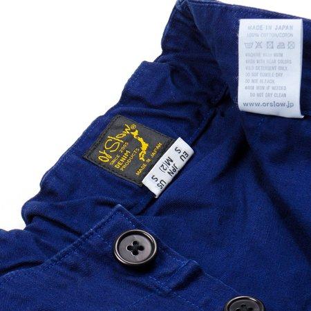 Unisex Orslow French Work Pants - Blue Herringbone