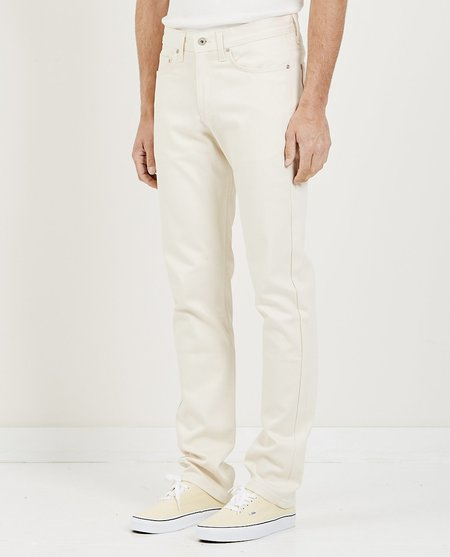 Naked & Famous WEIRD GUY JEAN - NATURAL SEED DENIM
