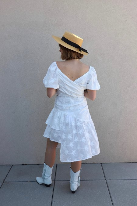 House of Sunny Prairie Sundress - white