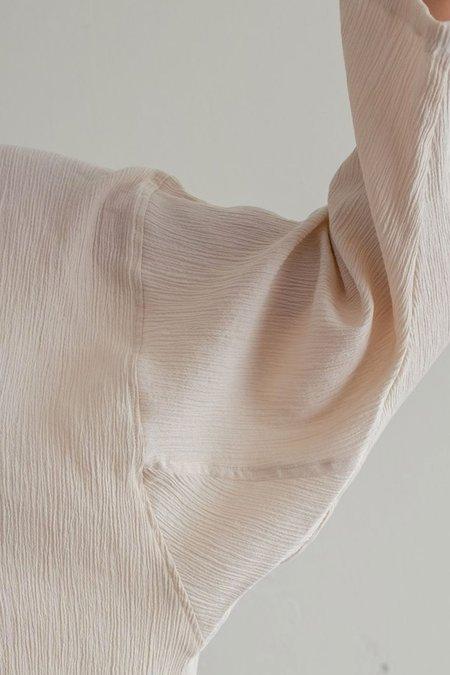Sunja Link Crinkle Cotton Top - Black