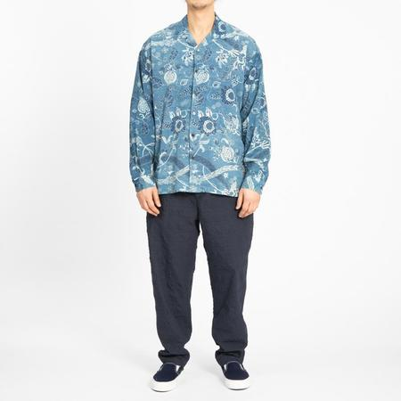 s.k. manor hill Shore Shirt - Floral Indigo