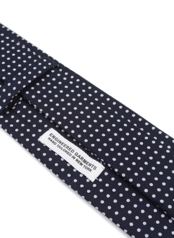Neck Tie Navy Print Polka Dot