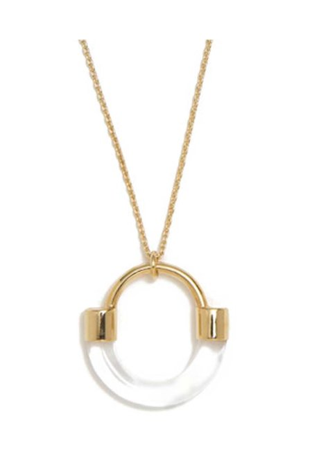 Lady Grey Fraction Lucite Necklace - Clear