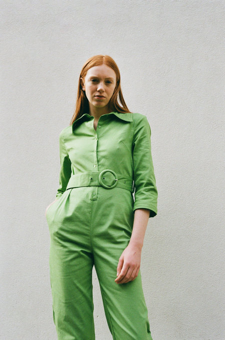 House Of Sunny Coveralls - Grass Green