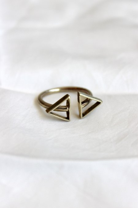 Moon + Arrow Double Arrow Brass Ring