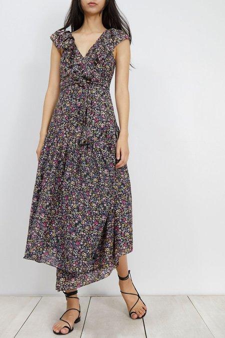 Apiece Apart Nueva Costa Maxi Dress - Black Floral