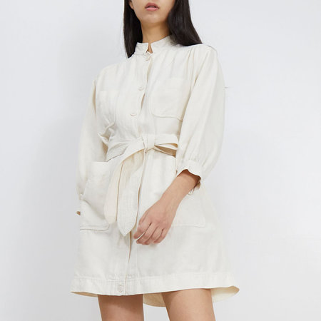 Apiece Apart Aragon Mini Dress - Cream