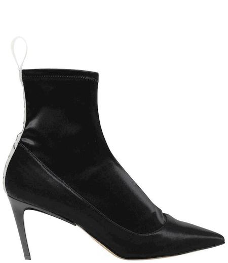 Baldan 1859 Satin Mid Heel Boot - Black