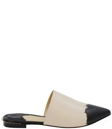 Eugene Riconneaus Leather Mule - Nude/Black