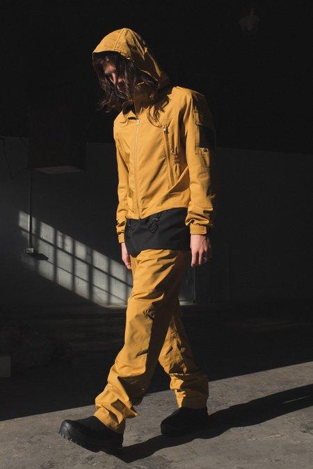 Mackintosh 0004 Cropped Technical Hooded Jacket - Mustard
