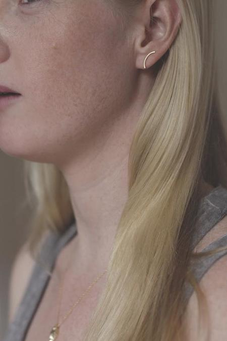 Rebecca Mir Grady Cloudbreak Earrings - Silver
