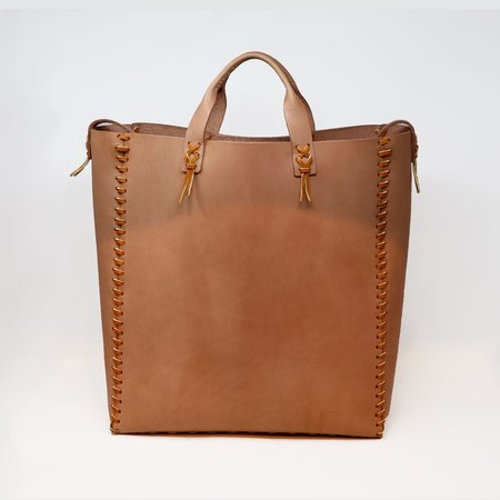 Forager Co. Leather Laced Buckskin Bag - Natural