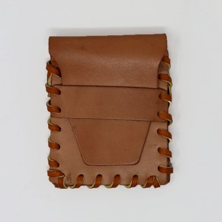 Forager Co. Leather Laced Buckskin Wallet - Natural