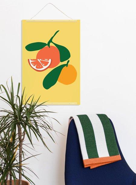 Poketo Orange Print