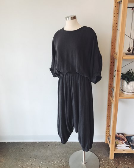 Black Crane Xiao Jumpsuit - Charcoal