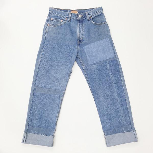 B Sides Jeans - Levi's 505 Patchwork Denim Jeans