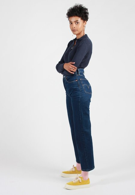 Levis Ribcage Jeans - Life's Work Blue