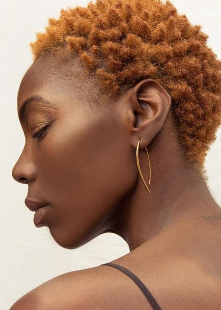 Soko Bow Earrings - Brass