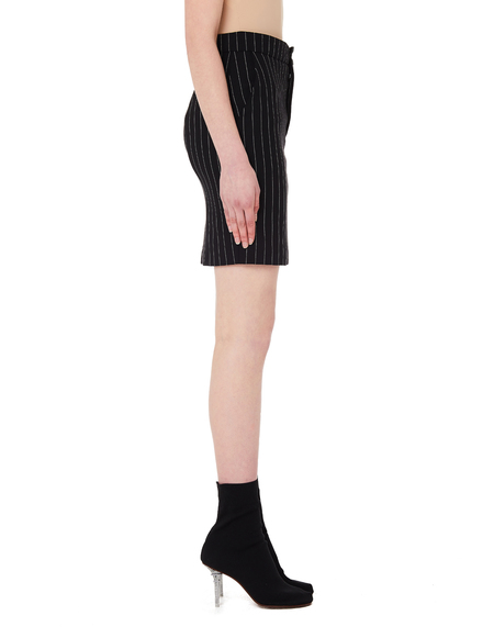 21efc355b874 Vetements Striped Wool Skirt - Black ...