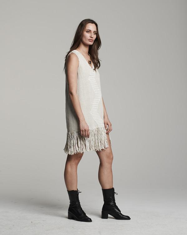 VOZ Zig Zag Dress - Sand/Ivory
