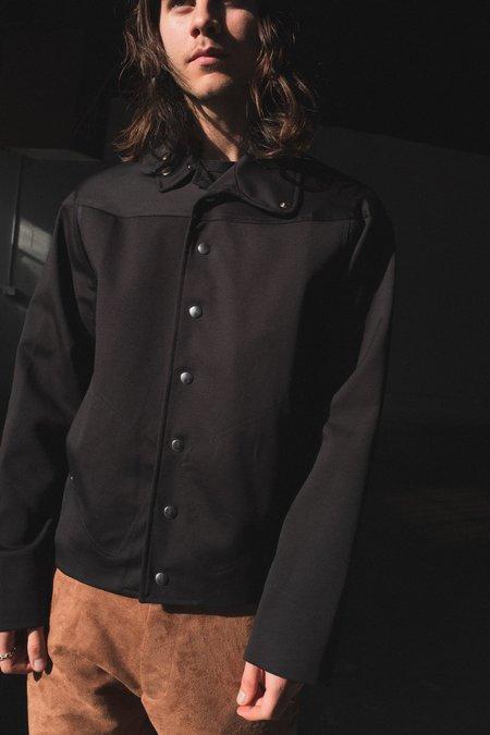 Mackintosh 0004 Cotton Two Tone Jacket - Black
