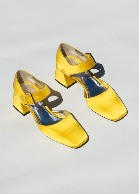 796033c5c ... Suzanne Rae Maryjane With Silver Bow in Marigold