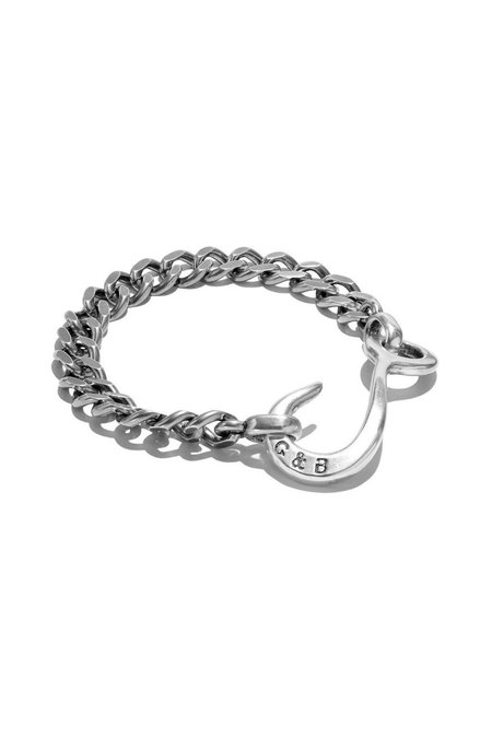 GILES & BROTHER Hook Chain Bracelet - Silver Oxide