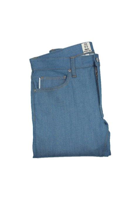"KATO' ""The Pen"" Slim 4-Way Raw Vintage Stretch Selvedge Denim - BLUE"