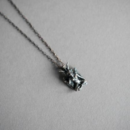 Theeth Small Baphomet Necklace - Sterling Silver