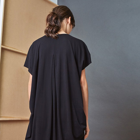 Kowtow Building Block Drape Dress - Black
