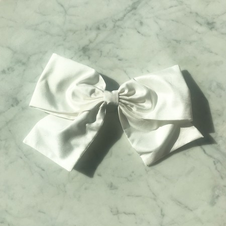 Bianca and Red Large Bow - White