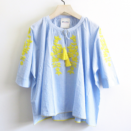 Gallabia Calypso Shirt - Blue/White/Yellow