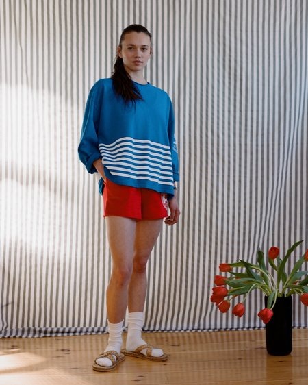 OffSeasonNYC Token Pull Over - Cerulean French Terry