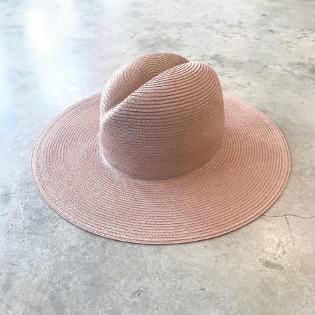 Yestadt Millinery Yestadt Infinity Swirl Crown Beach Hat - Mauve