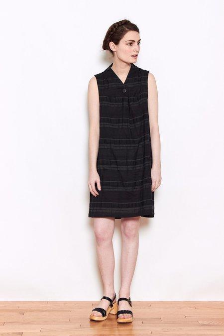 Launderette Jemma Foldover Dress - Black