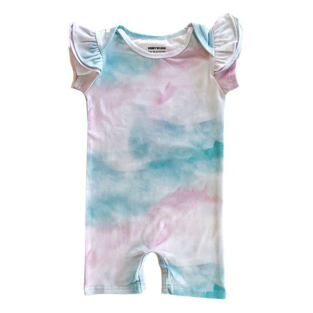 KIDS Romey Loves Lulu Ruffle Short Romper - Cotton Candy