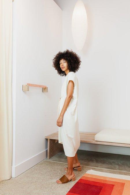 Miranda Bennett Silk Noil Petite Knot Dress - Natural