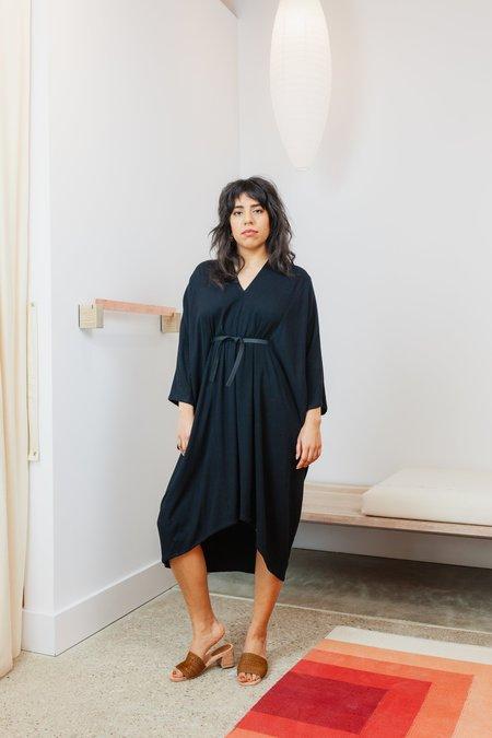 Miranda Bennett Rayon Petite O'Keeffe Dress - Black