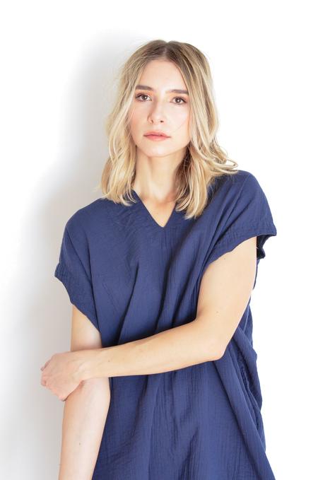 Atelier Delphine Crescent Dress in Midnight
